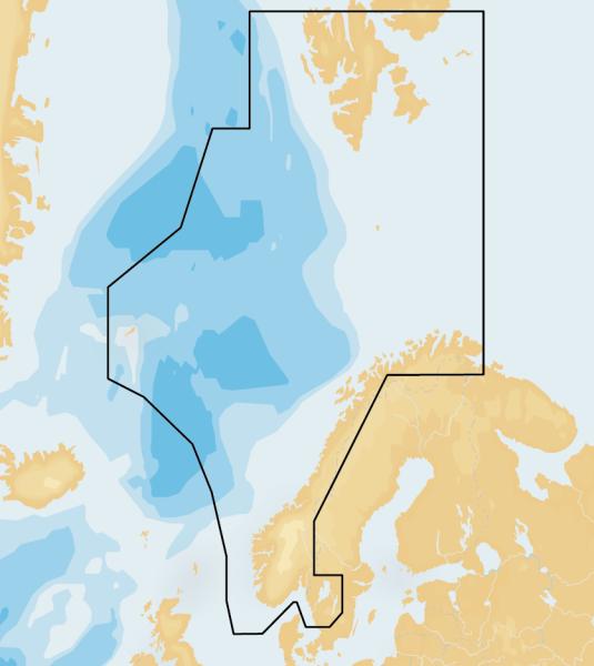 Navionics 49XG – kartområde
