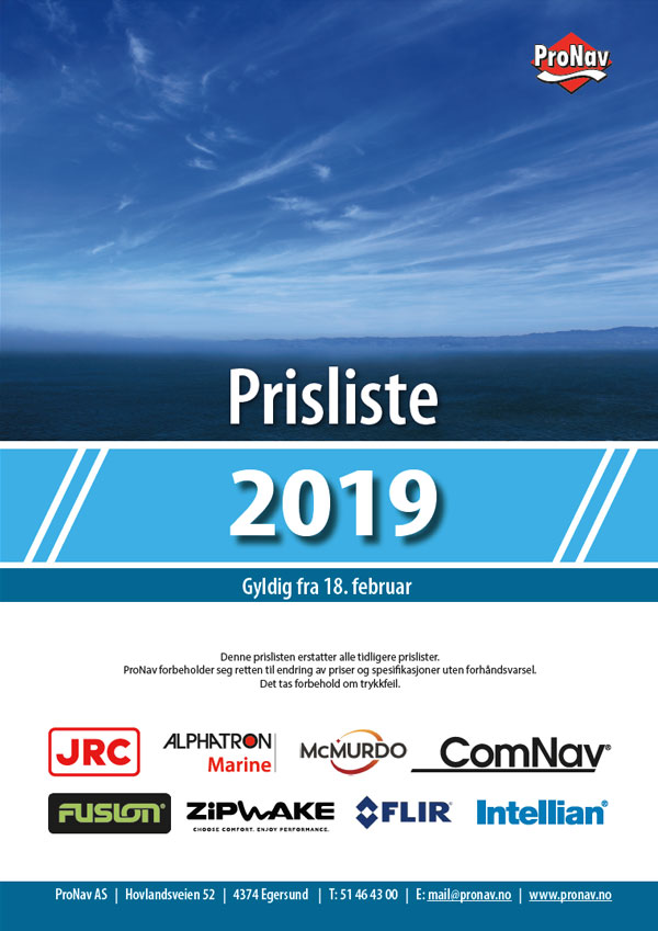 Hovedprisliste 2019 ProNav AS