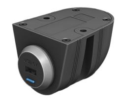 PowerVerter POD - dobbel USB på vegg m. hus